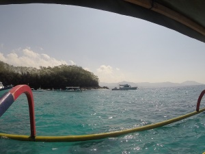 A view from the dive boat