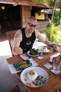 Lunch at local warung