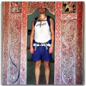 Giant man, or small door?