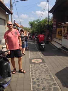 At the outskirts of Ubud Market