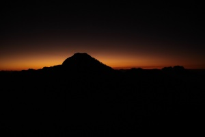 Sunset on the first ridge