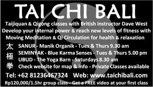 TAI CHI BALI 2014 - BALI ADVERTISER - TAI CHI GROUP CLASSES