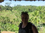 Katja above the rice terrace