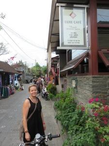 Katja outside Luxe