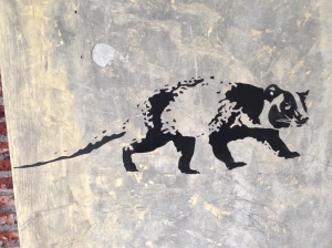 Luwak painted on the wall @ Anomali Coffee