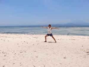 Yoga pose @ the beach.
