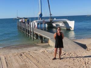 The catamaran Shotover