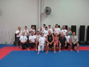 Beki's crew on a Saturday training