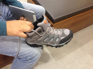Katja's new hiking boots