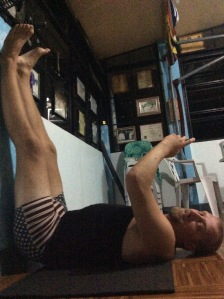 Stretching while writing this post