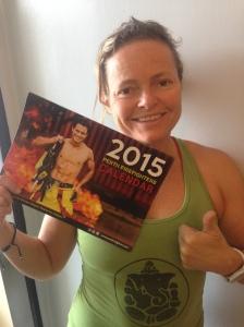 Katja and her new calendar