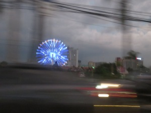 Ferris wheel in the horizon