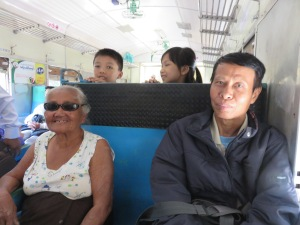 Mama San on the train