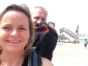 Bye bye, Siem Reap. Boarding selfie