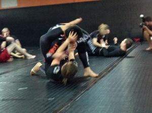 Katja sparring BJJ