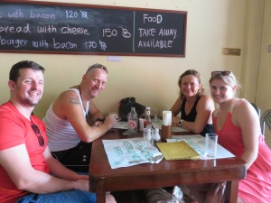 Lene, Christoph and us at lunch
