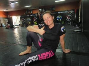Katja @ BJJ training