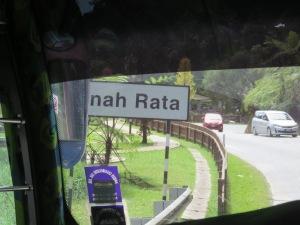 Entering Tanah Rata