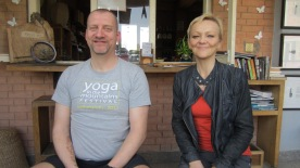 My and Ellen, a Norwegian studying in Nepal and one of Ashtanga Yoga's pioneers in Norway